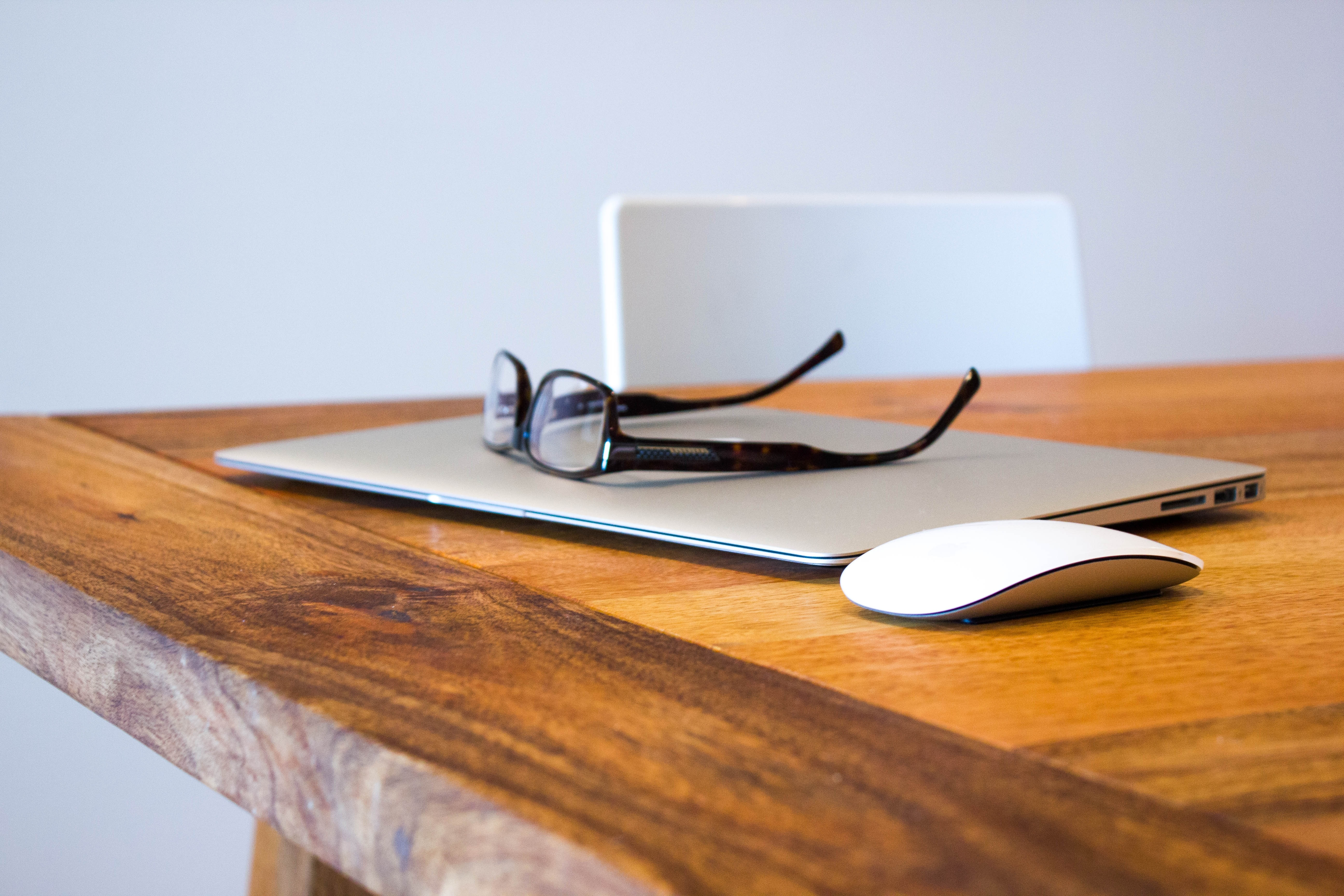 Glasses Sitting on and Wooden Table
